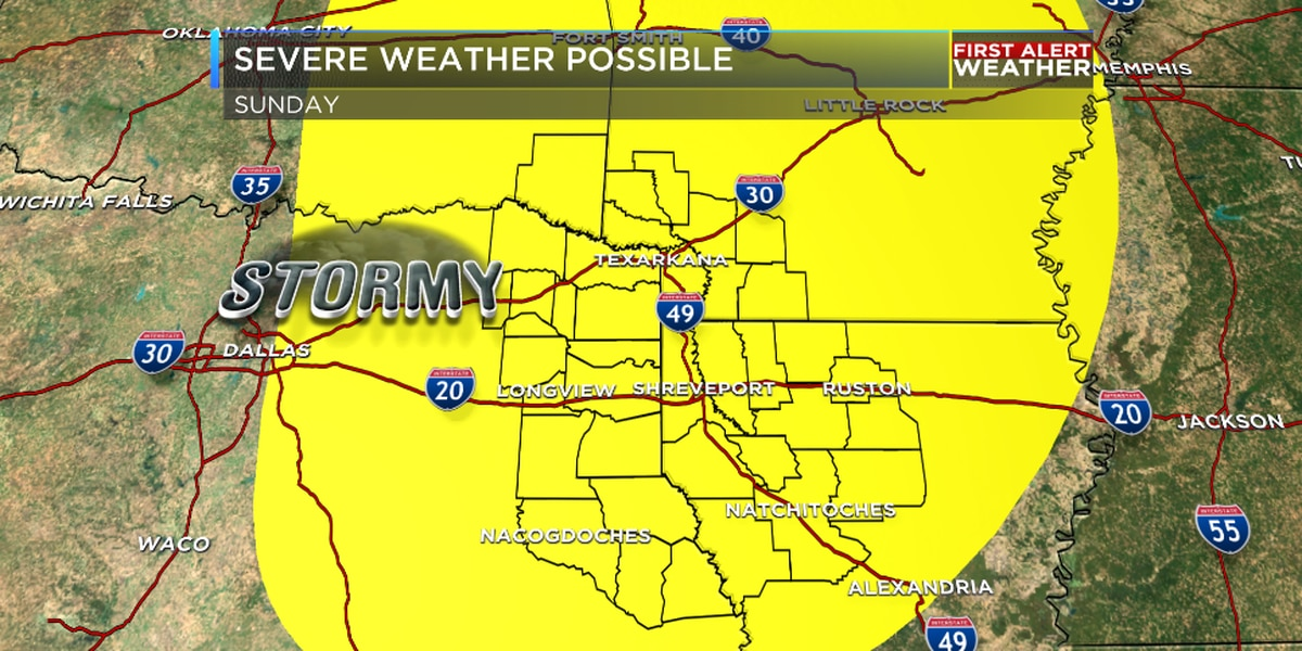 Strong storms possible this weekend