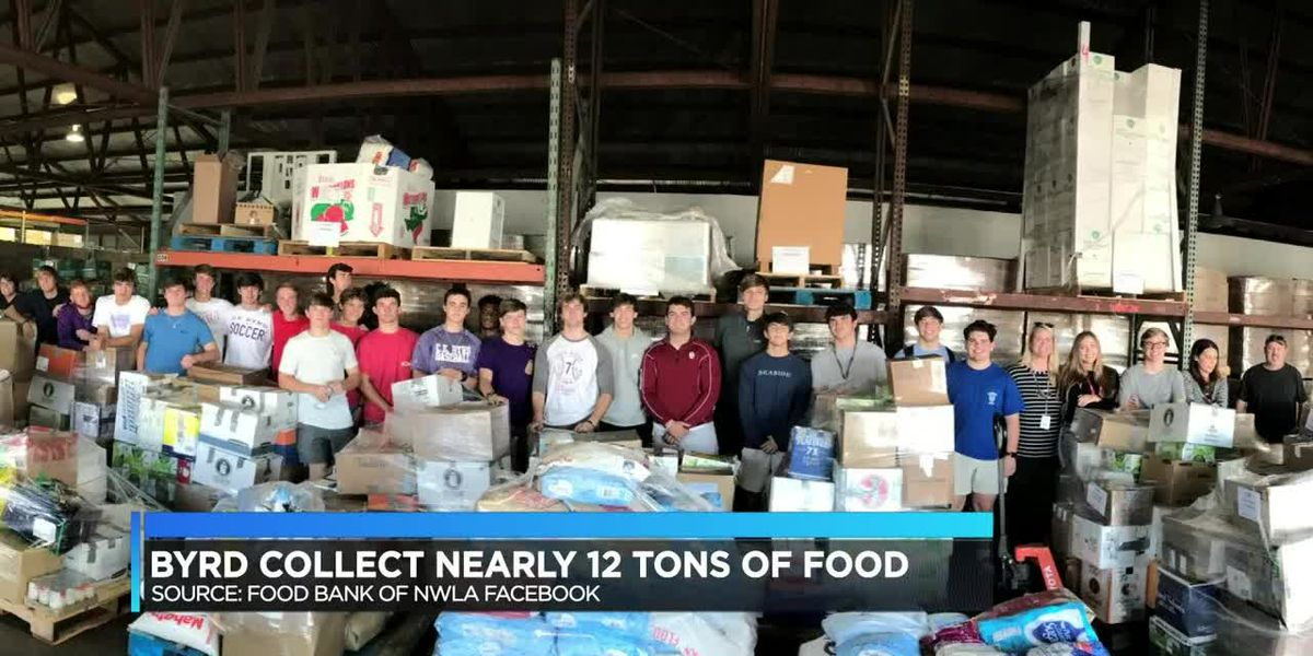 C.E. Byrd students donate 12 TONS OF FOOD