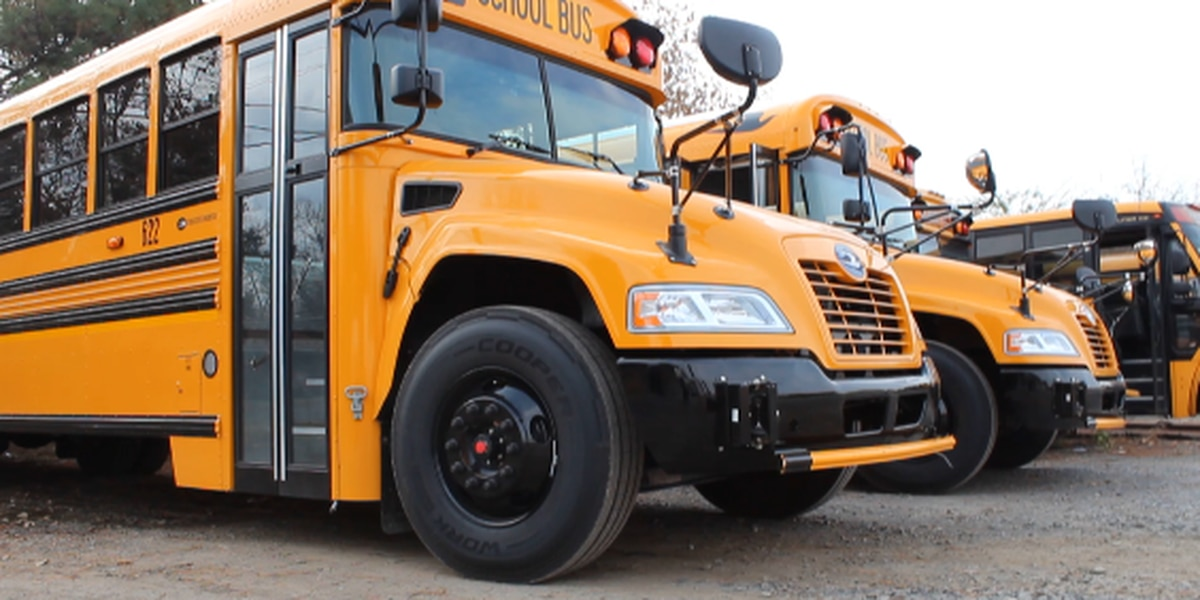 Caddo unveils safety features on new school buses