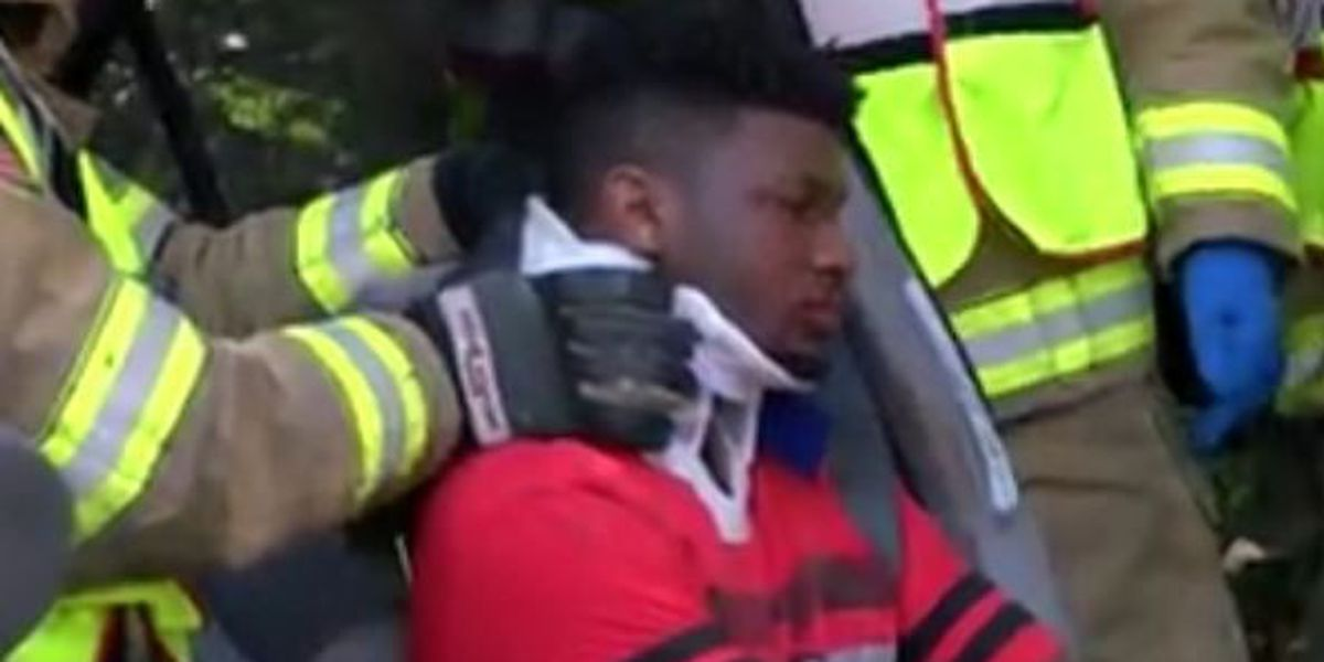 Firefighters rescue ETX teenager pinned in wrecked car