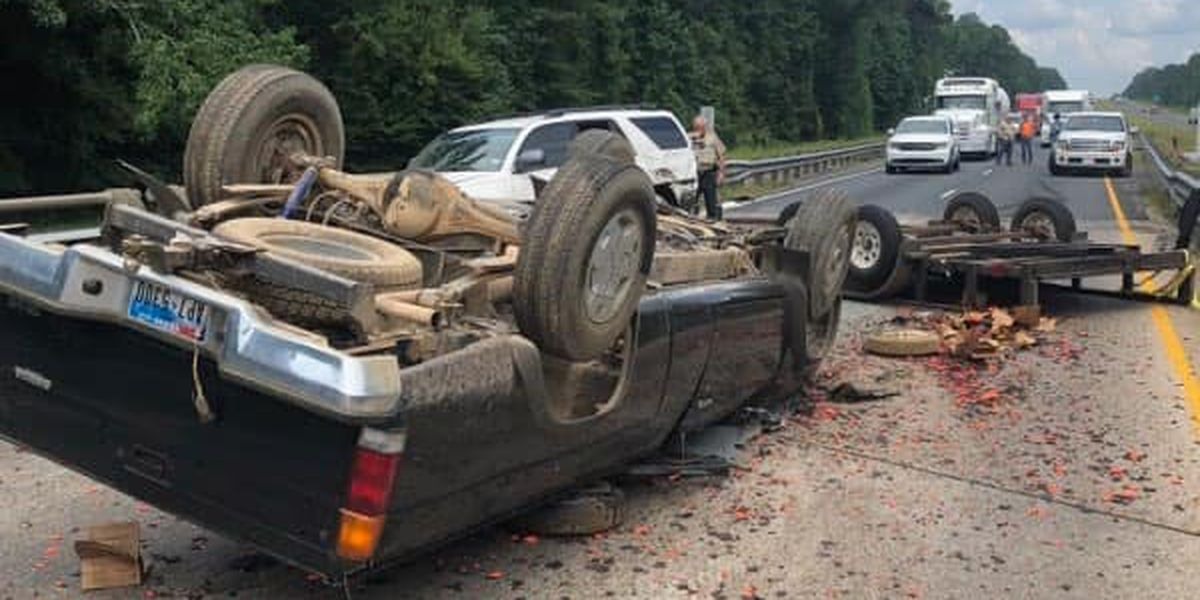 Accident closes part of I-20 in North Louisiana