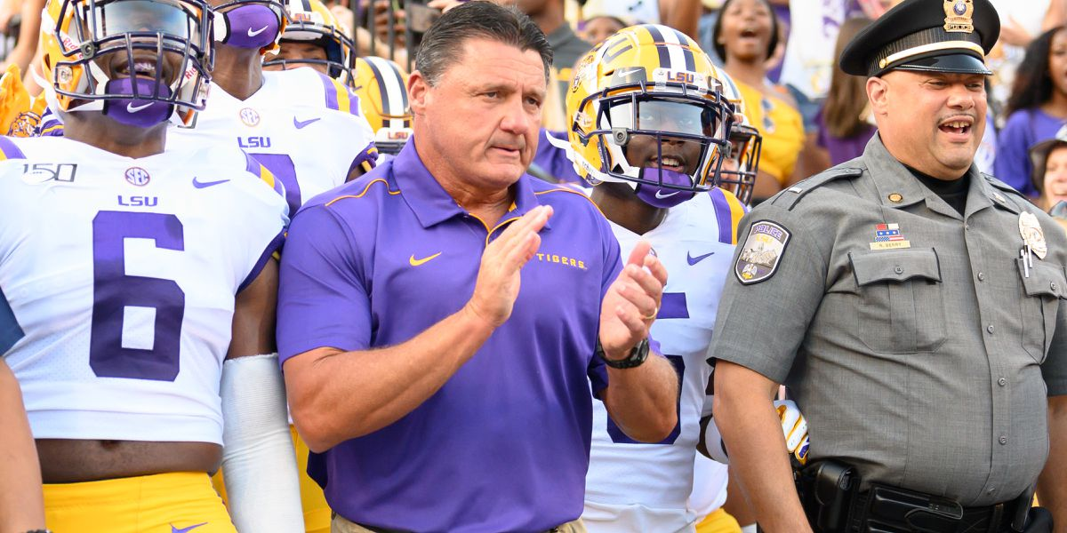 LSU comes in at No. 2 in first College Football Playoff rankings of 2019 season