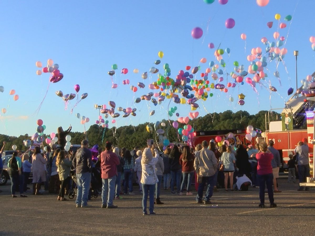 Balloon release memorial held for 5-year-old girl killed in crash