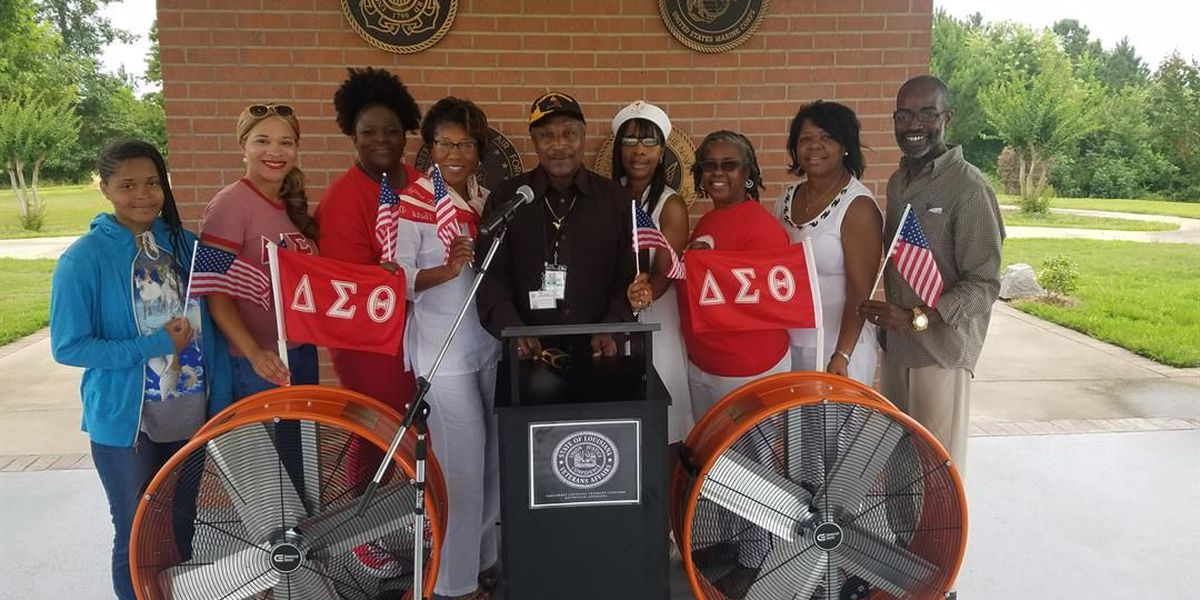Sorority donates fans to NWLA Veterans Cemetery