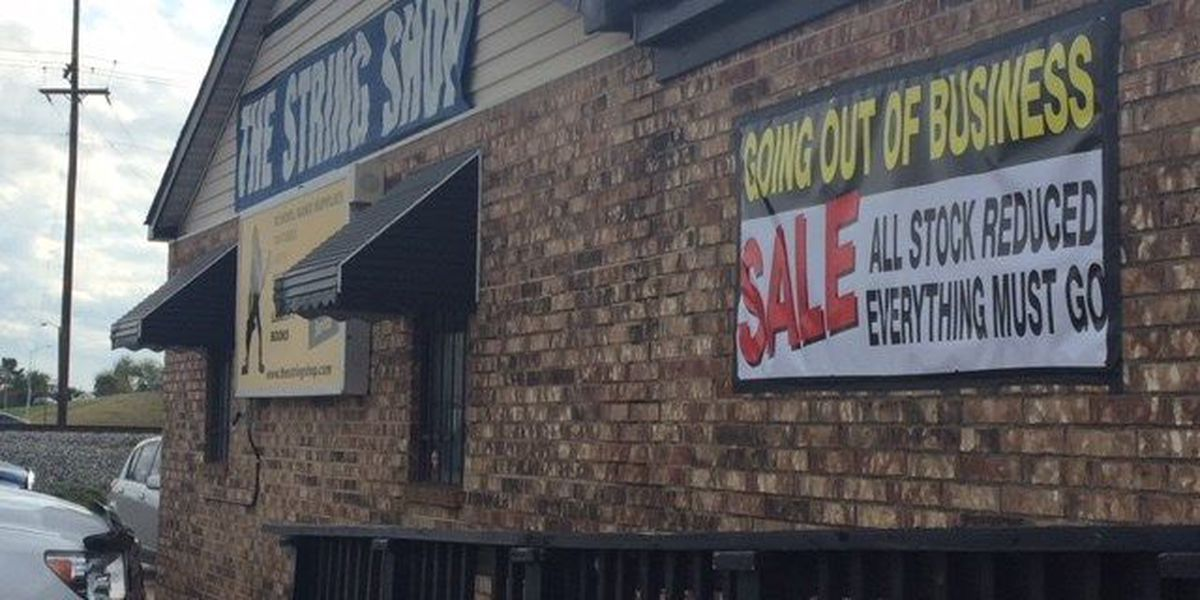 Popular Bossier City guitar store closing after 33 years in business