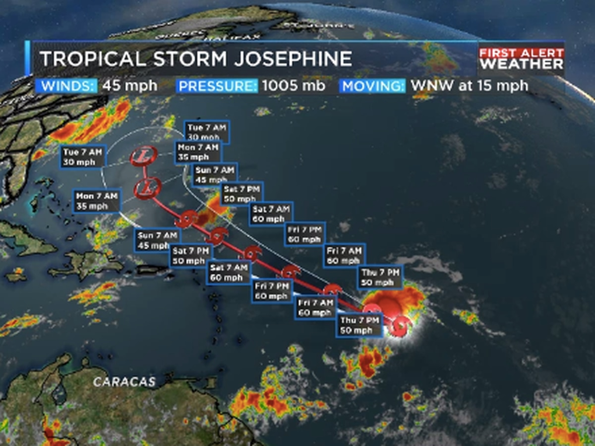 Josephine forms as 2020 Hurricane Season continues record pace