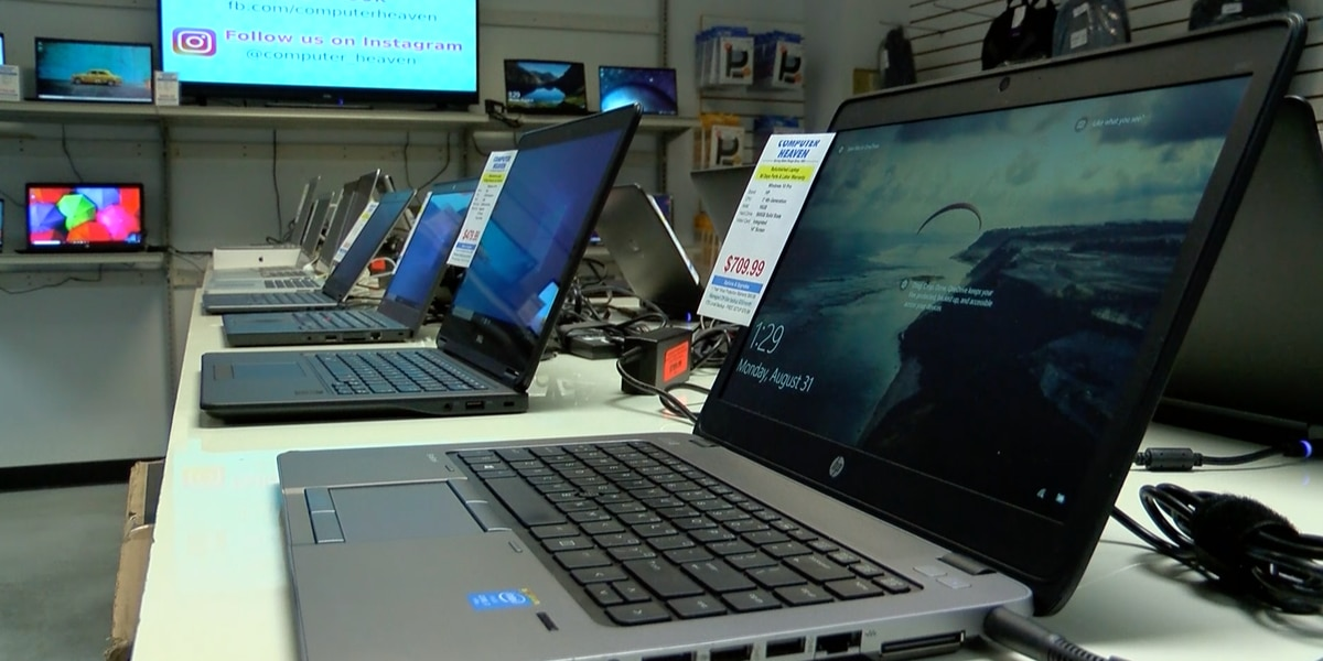 National laptop shortage makes it harder to find affordable devices for remote work spaces, distance learning