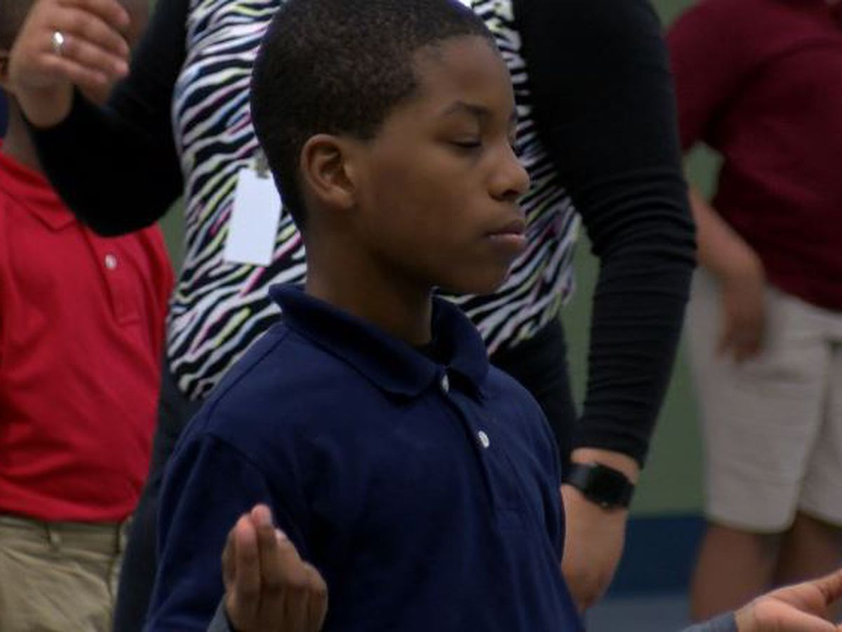 East Texas elementary school offers yoga for students