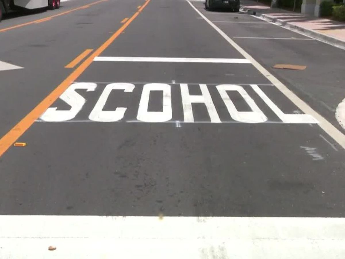 'School' misspelled at Florida crosswalk
