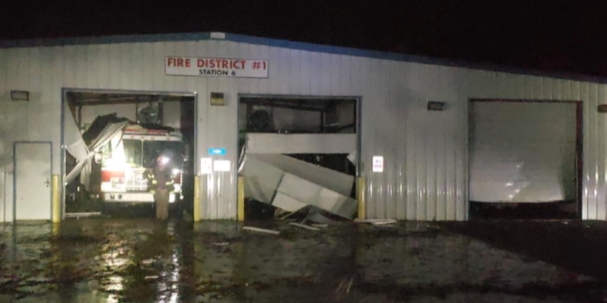 Haughton fire station still shut down after Jan. 11 tornado