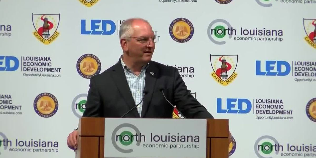 FULL VIDEO: Gov. Edwards makes major economic development announcement in Shreveport