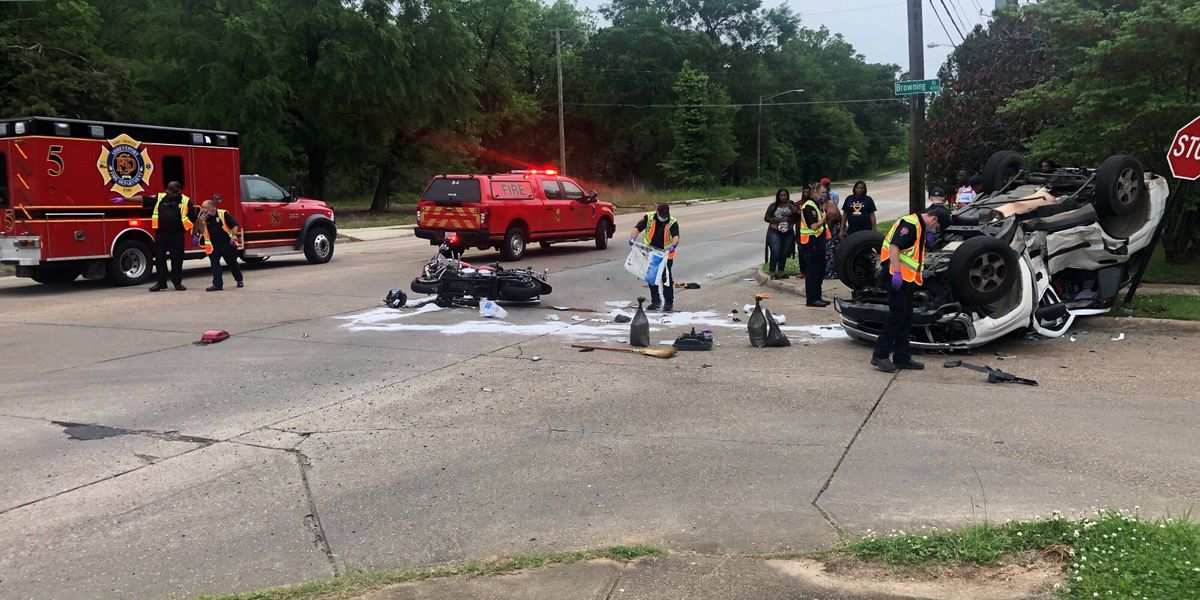 1 killed, 1 hurt in collision involving motorcycle, SUV