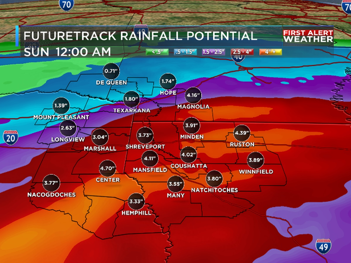 FIRST ALERT: Excessive rainfall and flash flooding possible through early Saturday