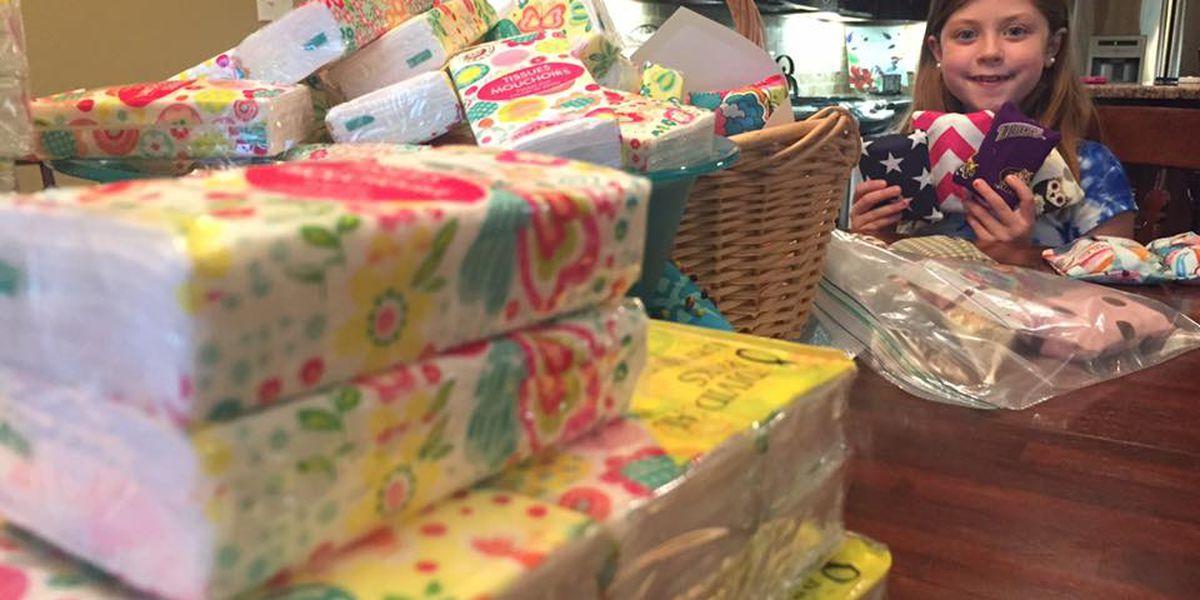 Bossier City girl surpasses goal for helping flood victims