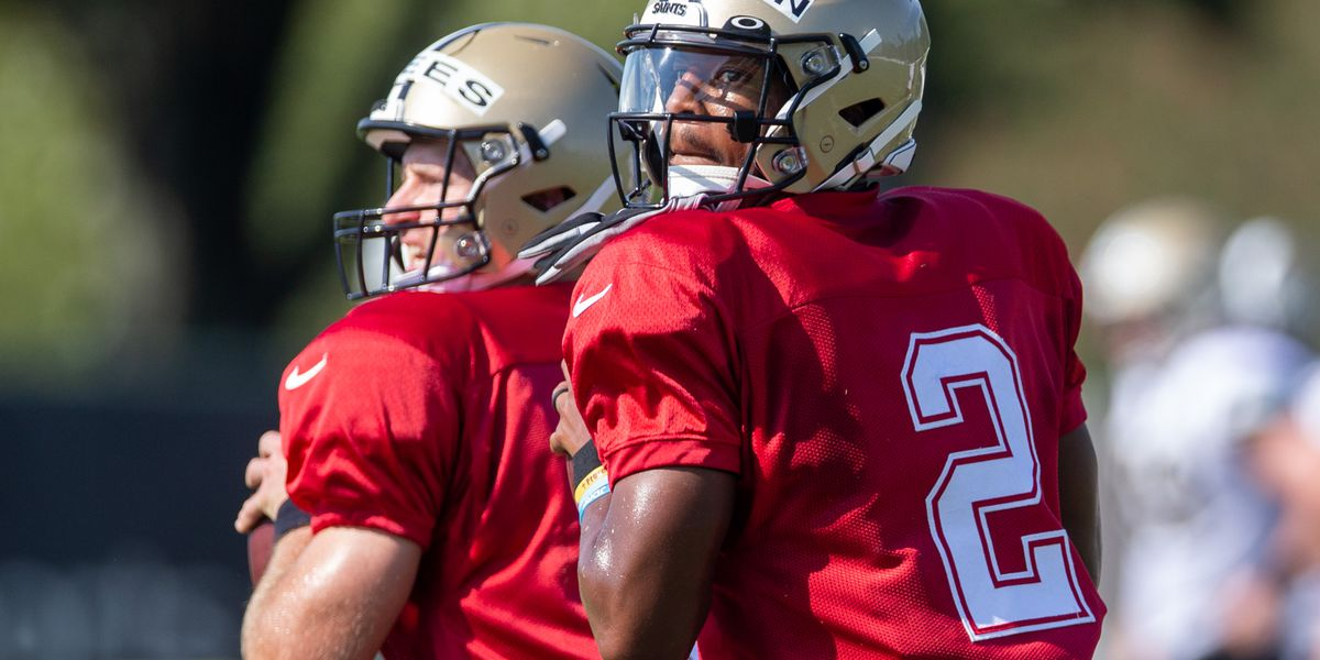 """Jameis Winston """"embraces"""" his QB competition with Taysom Hill"""