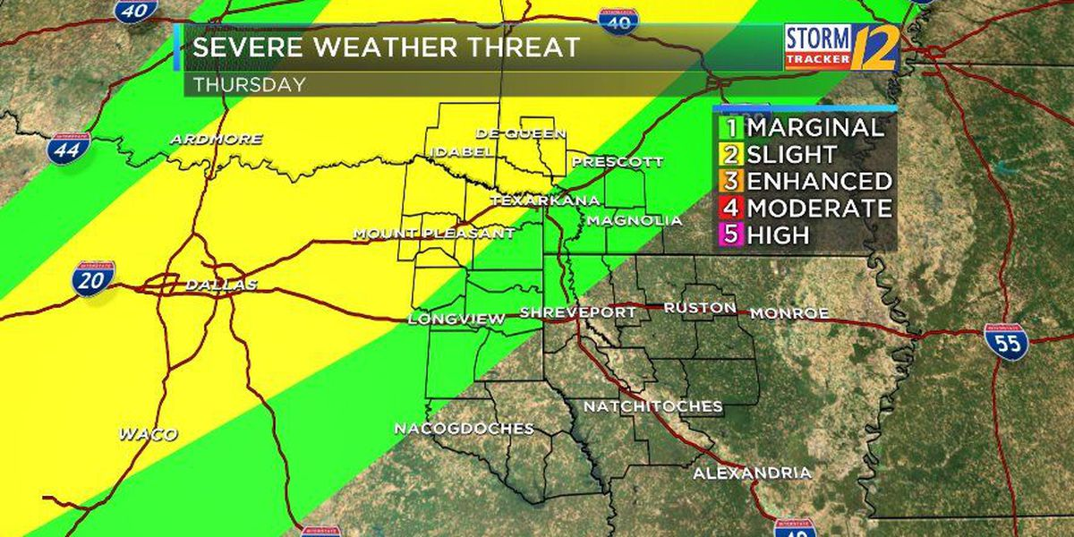 James: Thursdays brings greatest risk of severe weather