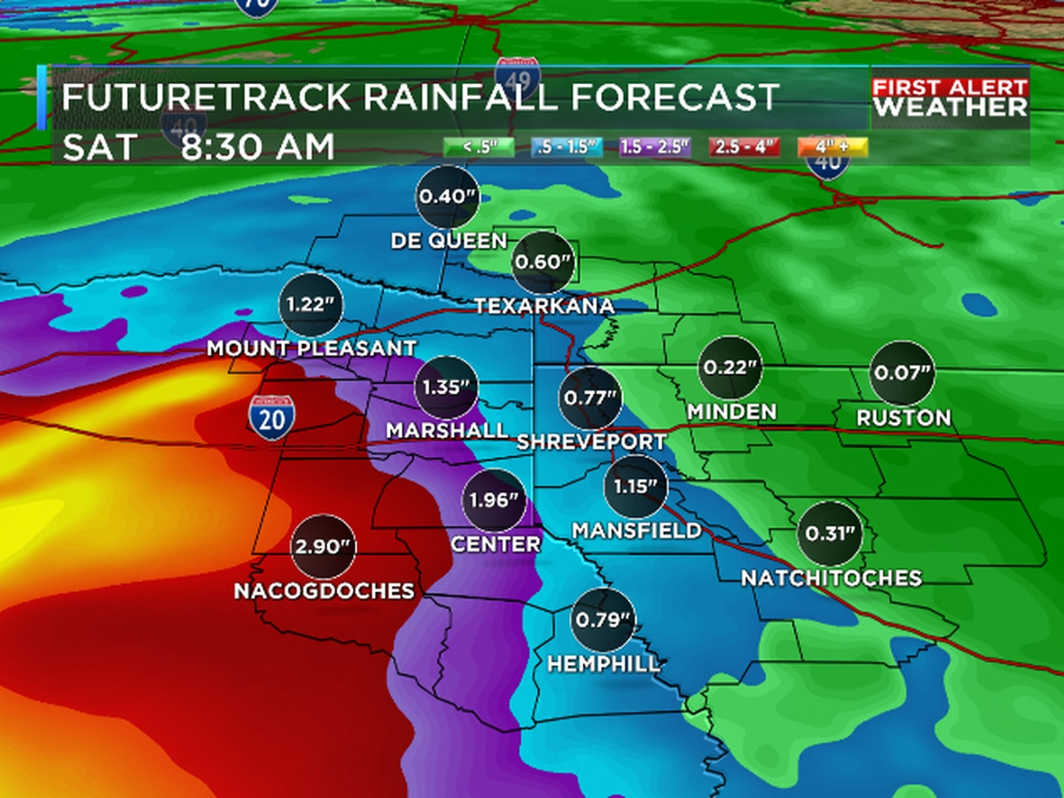 First Alert: Gulf disturbance increases rain chances in the ArkLaTex
