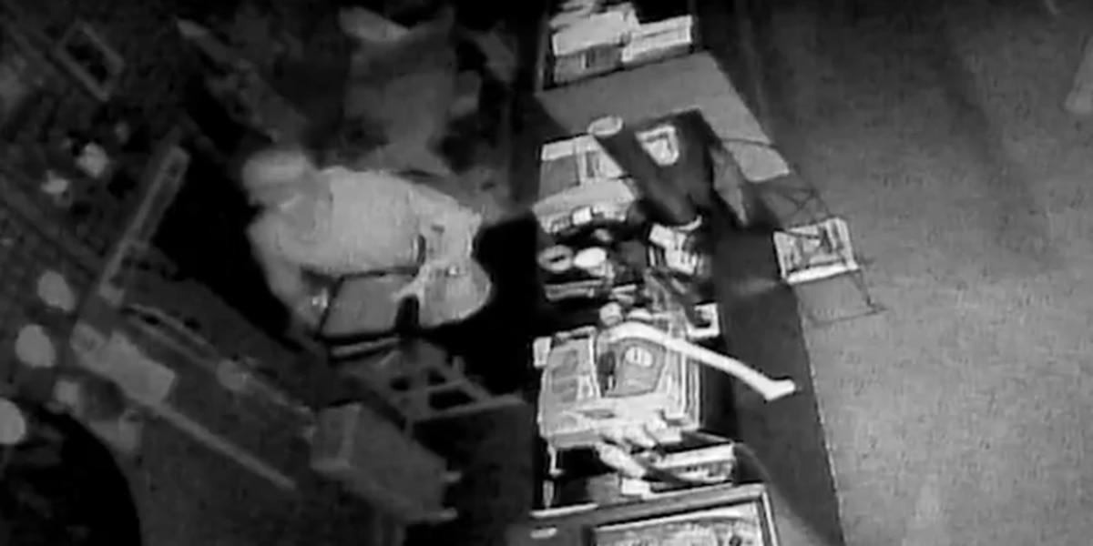 Man caught on camera burglarizing business