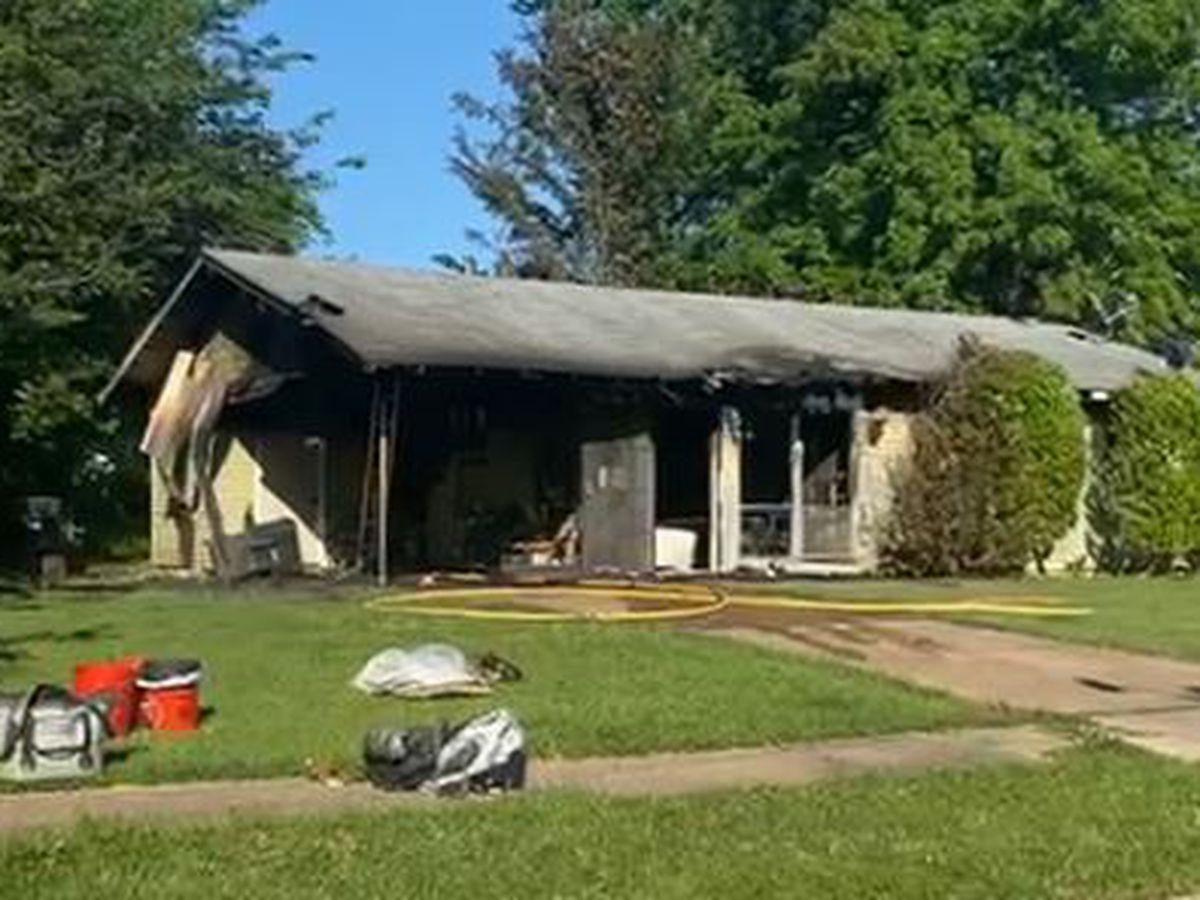 Fire destroys house, displaces dwelling's elderly owner