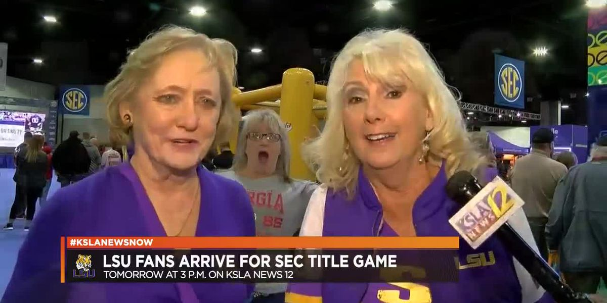 "SEC CHAMPIONSHIP: ""This, it's ginormous!"" LSU fans start painting Atlanta in purple and gold"