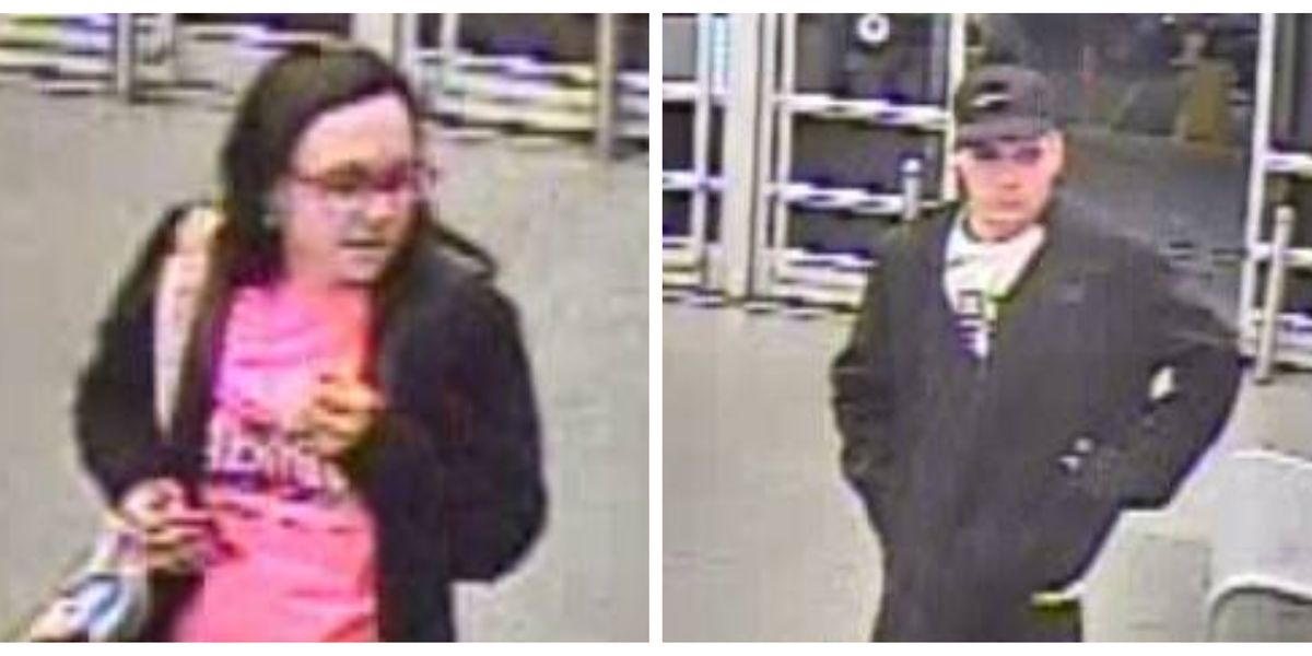 Police seek help identifying 2 possible theft suspects