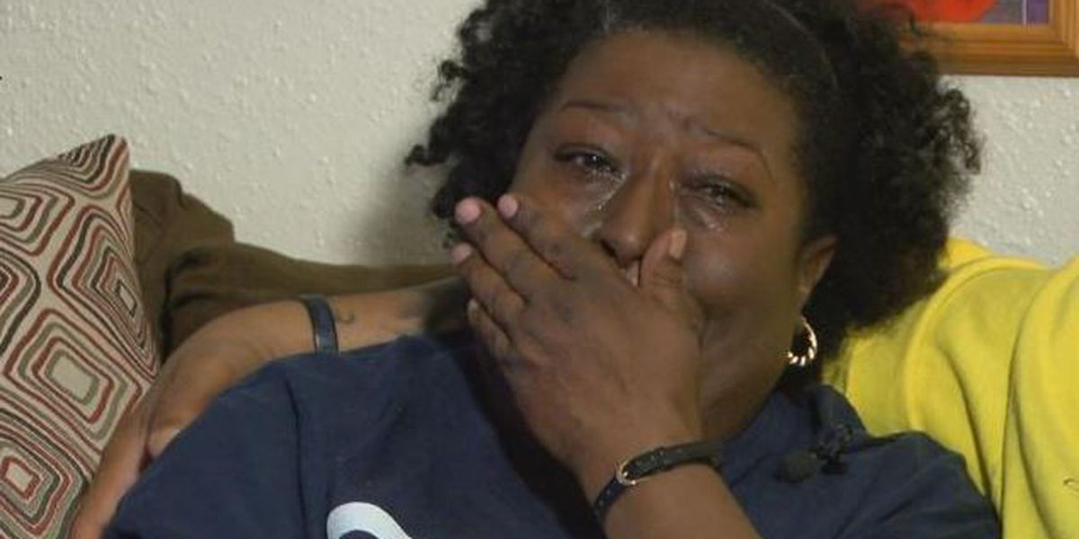 Slain man's mother makes a tearful plea for justice