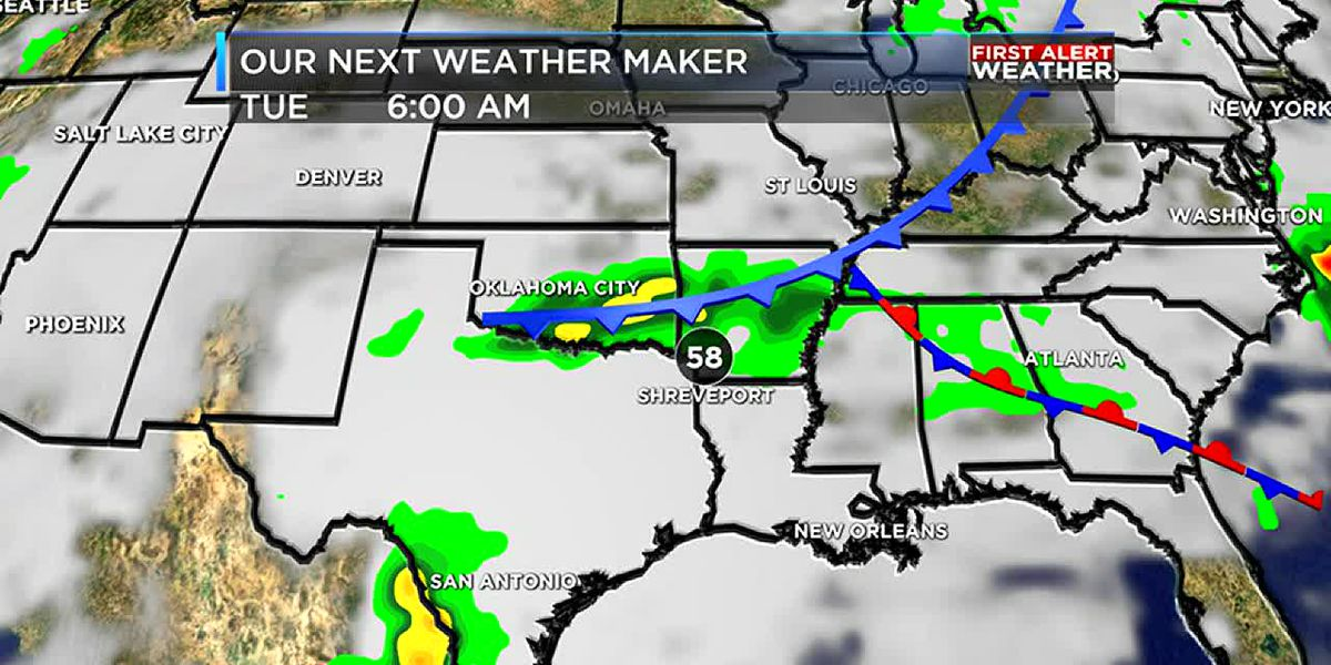 Scattered showers this weekend continue into next week