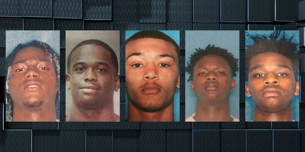 Five arrested, four wanted in connection with shooting at event hall in Jennings