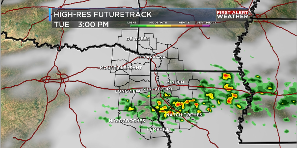 Rain chances continue through midweek