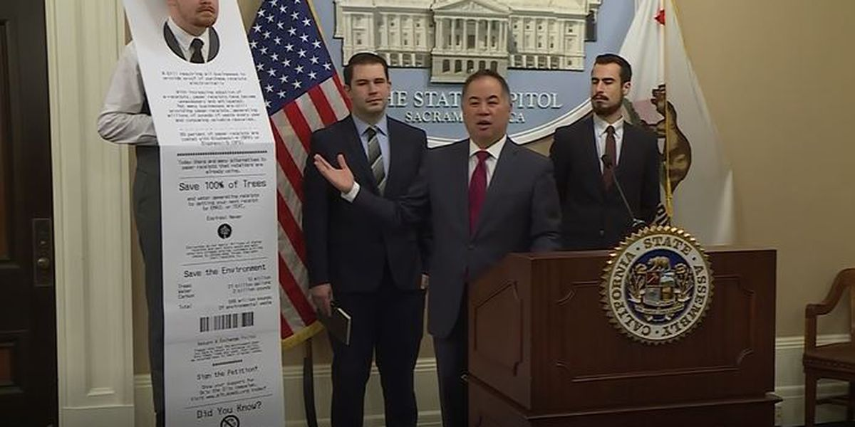 Lawmaker wants to get rid of paper receipts in California