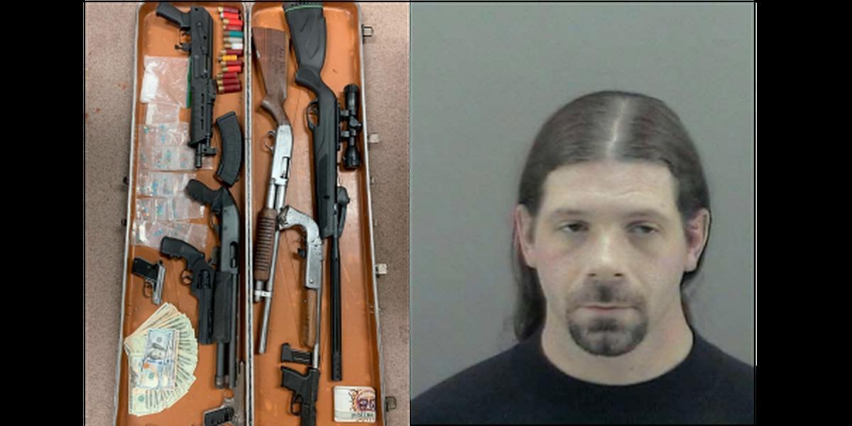 Harrison County search yields stolen guns drugs, money
