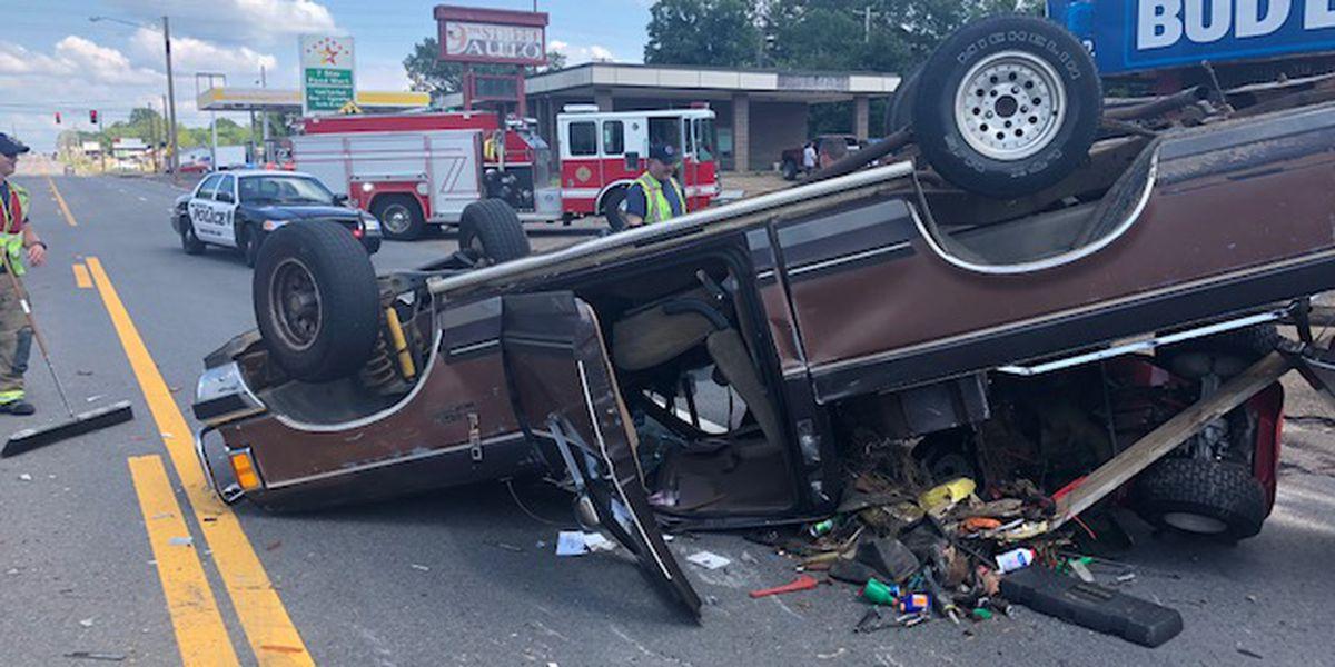 Arkansas Department of Corrections' van hit while transporting inmates