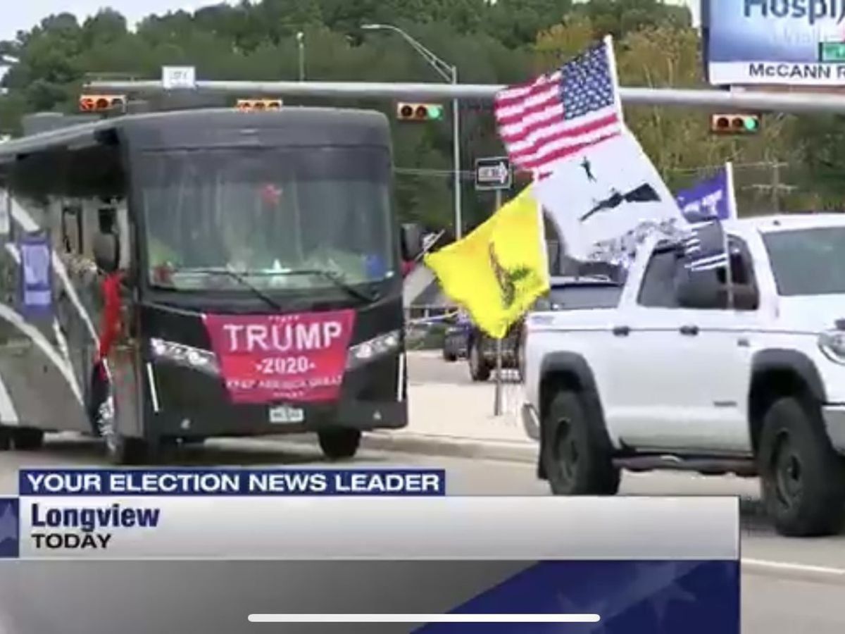 Supporters hold parade for President Trump in Longview