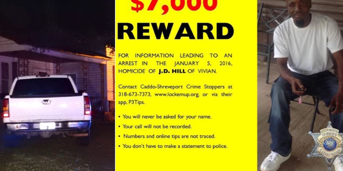 Reward offered in investigation of homicide