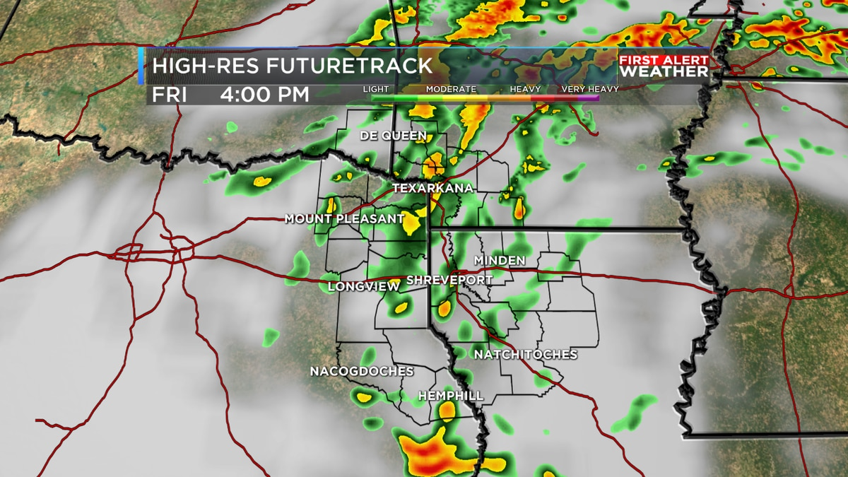 FIRST ALERT: Scattered rain the rest of the day