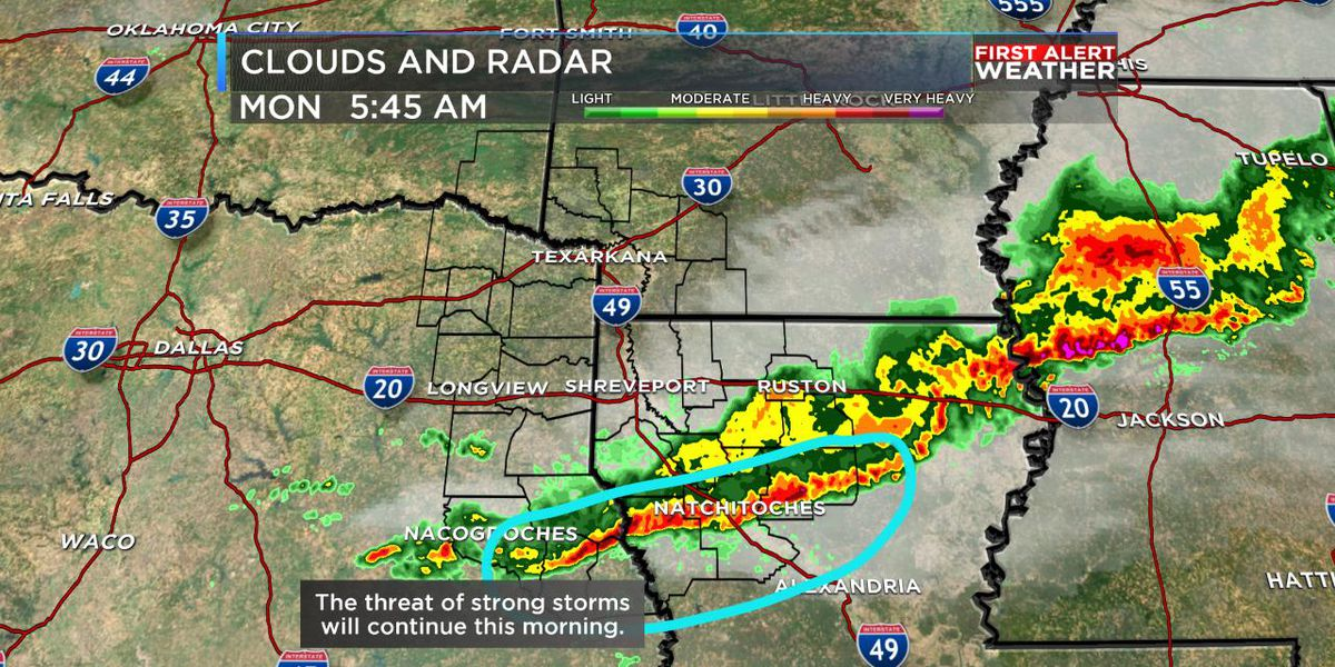 Rain and storms move out this morning, sunshine to return