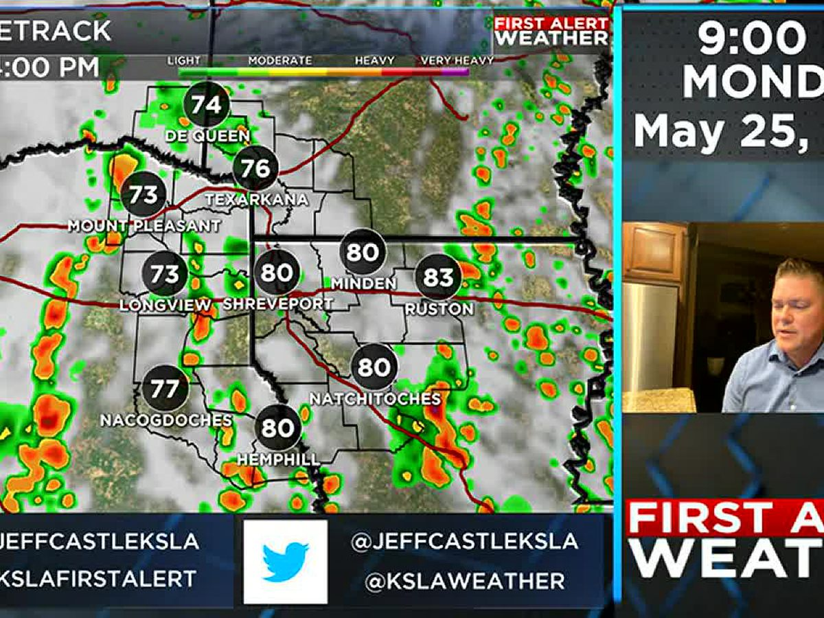 Wet Memorial Day is the start of more rain this week