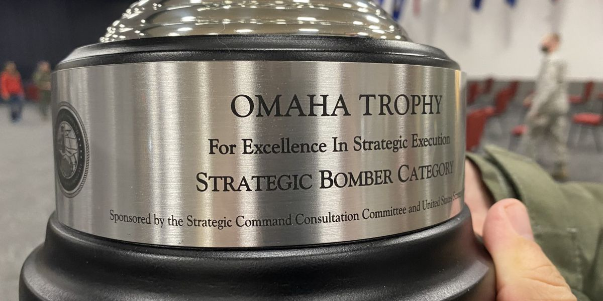 96th Bomb Squadron becomes first bomb squadron to earn Omaha Trophy