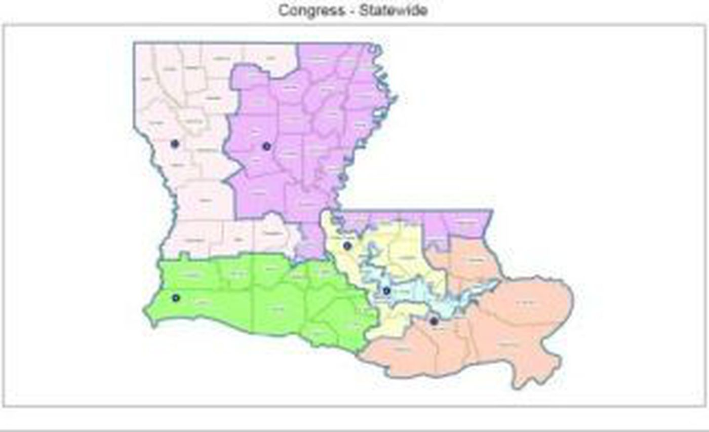 North Louisiana Map.North Louisiana Congressional Districts Expanded