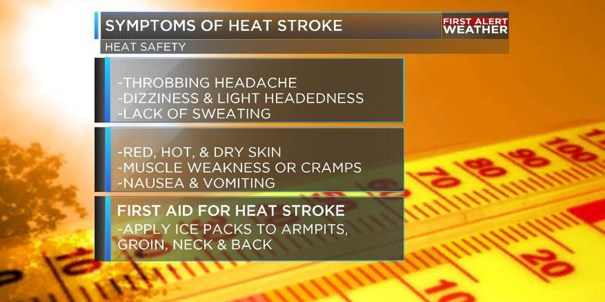 HEAT SAFETY: Know the symptoms of heat stroke