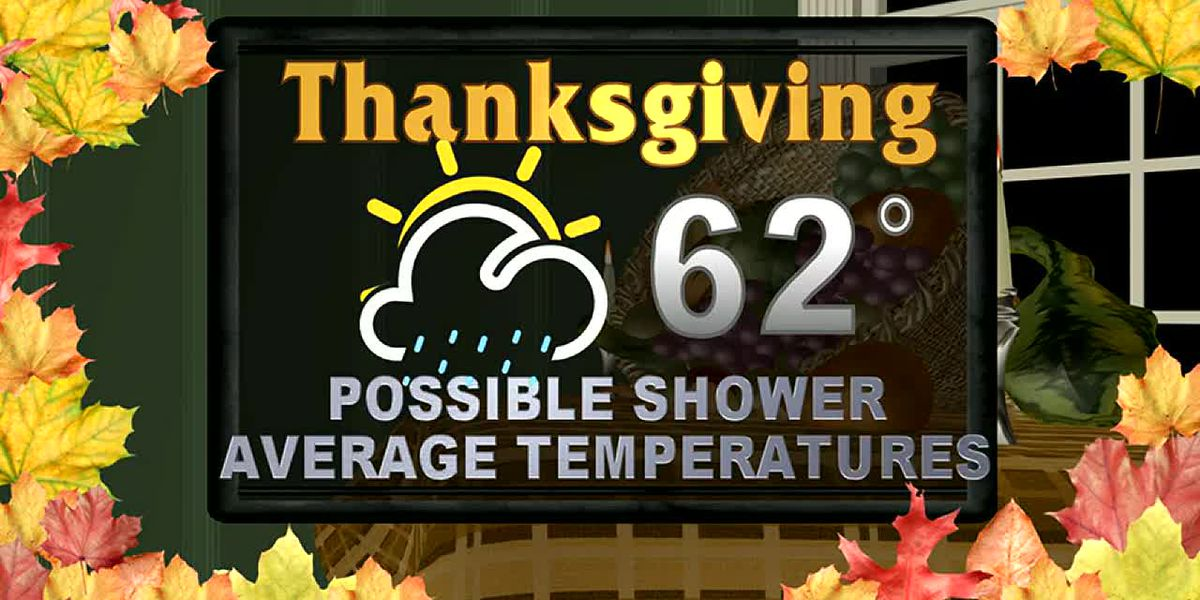 Rain chances are likely for your Thanksgiving week
