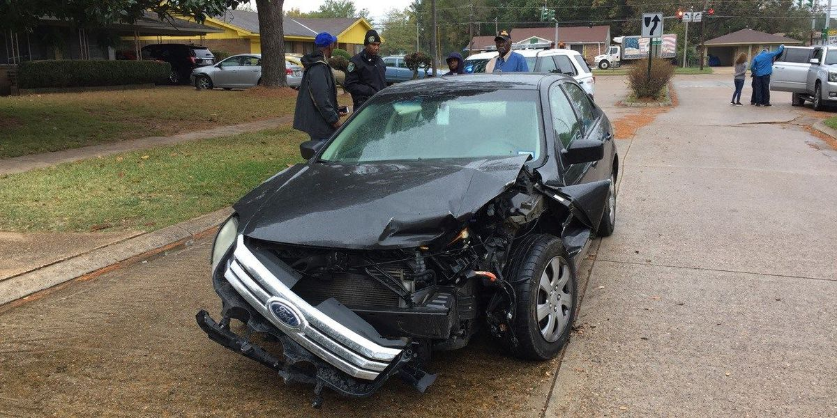 3 taken into custody after stolen car driven into fence, crashed