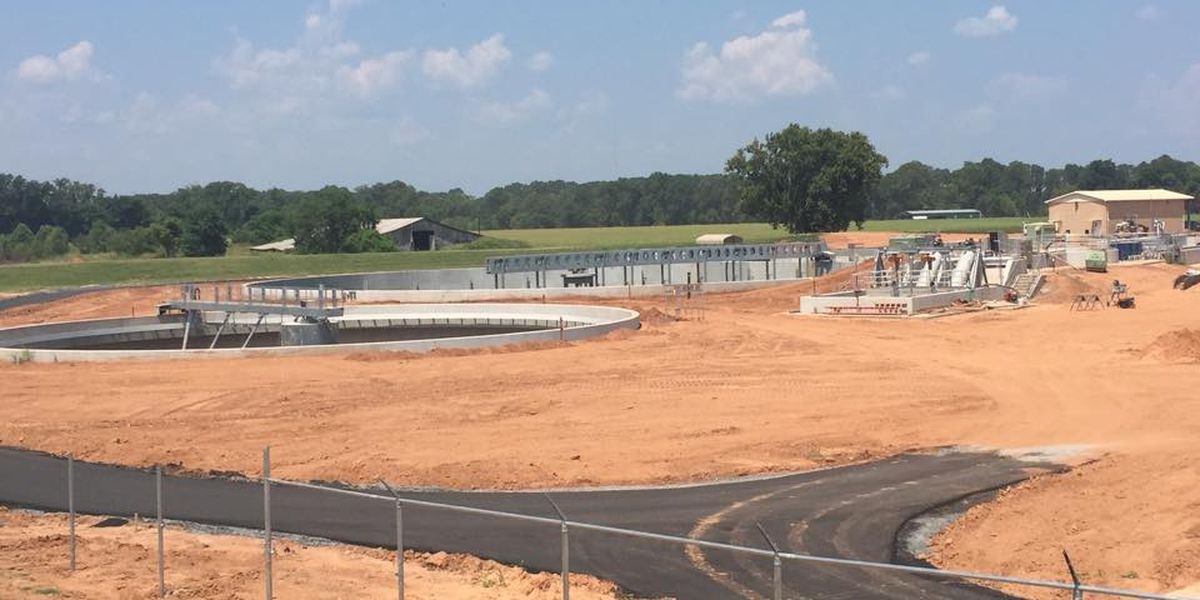 Bossier Parish $55M sewer treatment plant nearing completion