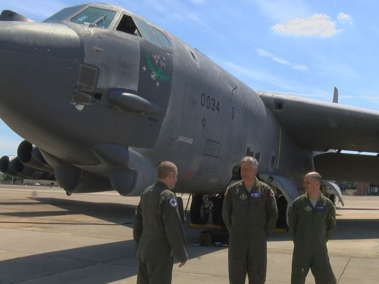 "Regenerated B-52 ""Wise Guy"" arrives at Barksdale Air Force Base"