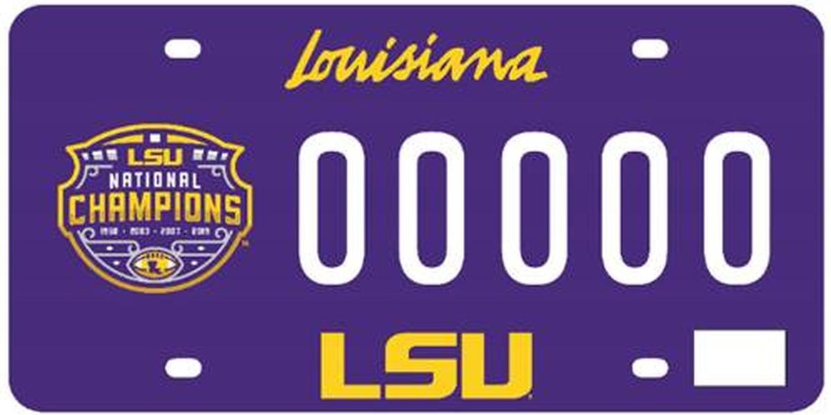 Louisiana OMV set to release LSU National Championship license plate