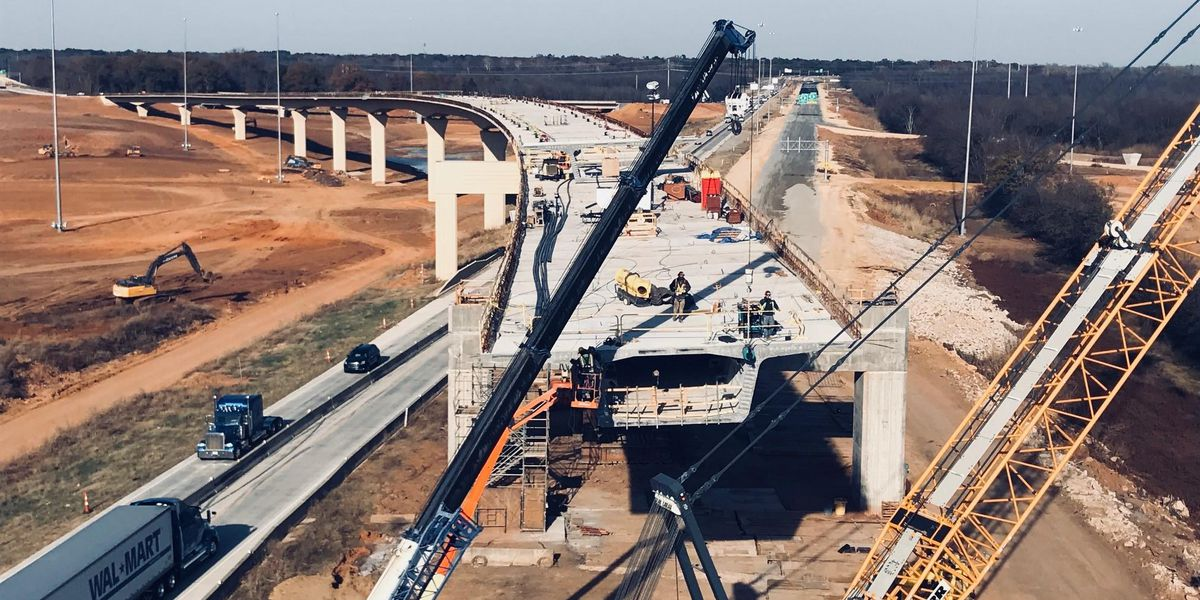 Bridge connecting I-220 and I-49 nearing completion