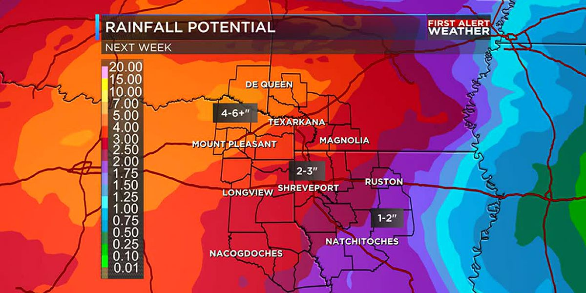 Mostly dry weekend but rain moves in Sunday evening