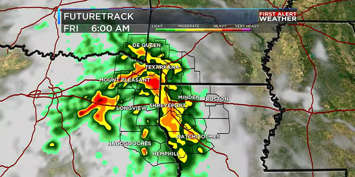 Rain threat still around for the ArkLaTex
