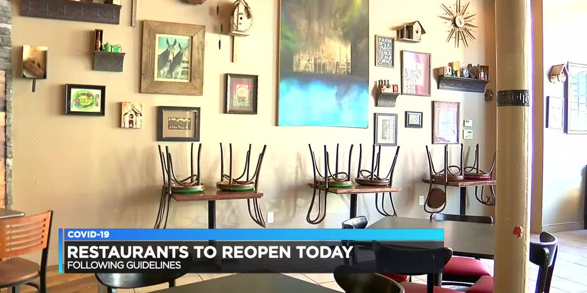 Ark. restaurants reopen Monday for dine-in customers