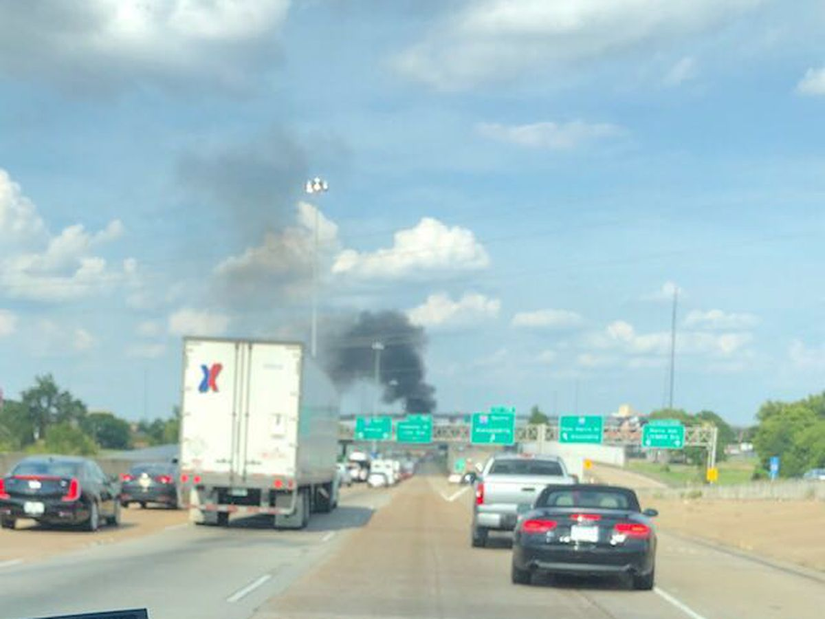 2 people hurt in I-20E wreck involving vehicle fire